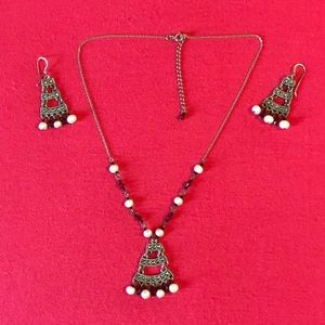Jewelry - Sterling necklace and earrings